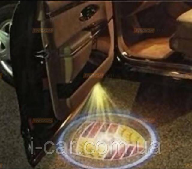 Проекция логотипа автомобиля porsche