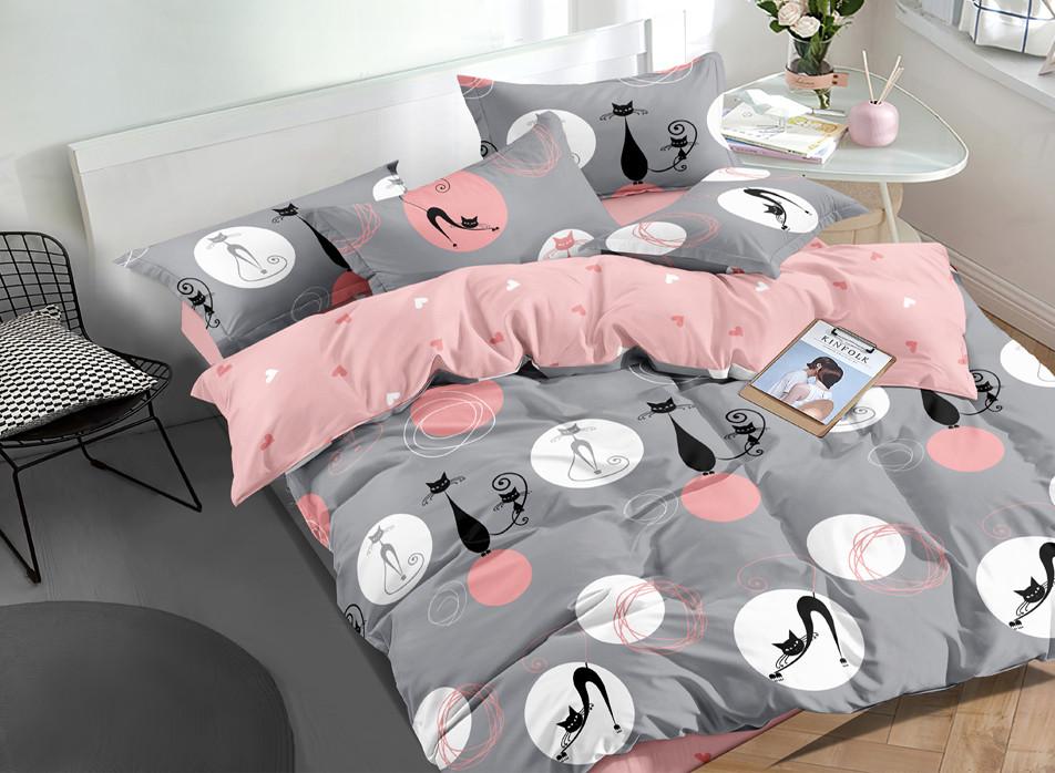 Двуспальный комплект постельного белья евро 200*220 ранфорс  (17320) TM KRISPOL Украина