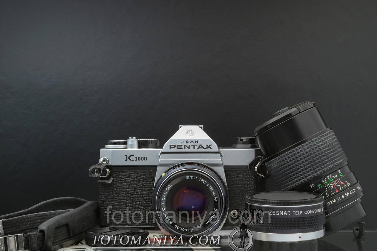 Pentax K1000 kit SMC Pentax-M 50mm f2.0 + JCPenney 135mm f2.8