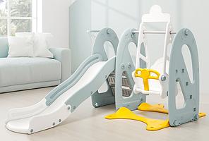 Гірка-гойдалка ігрова для дитячого майданчика, 141*142*110 см, WM19072-4