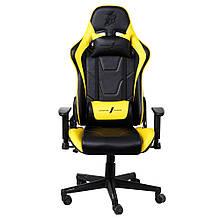 Крісло для геймерів 1stPlayer FK2 Black-Yellow