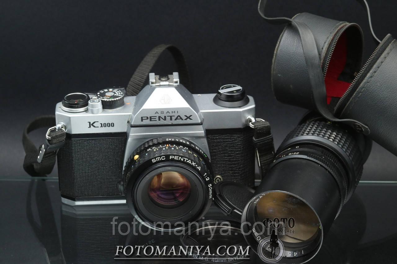 Pentax K1000 kit SMC Pentax-A 50mm f2.0 + Boweer 200mm f4,5