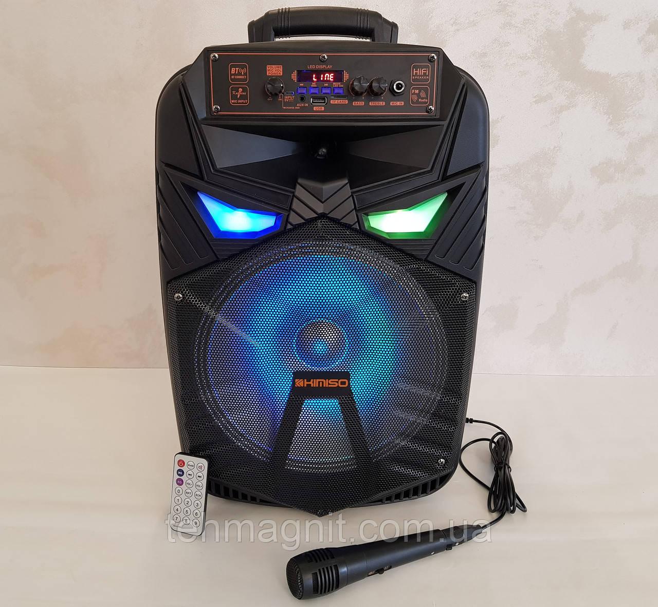 Колонка портативна акустична з мікрофоном Kimiso QS-1290
