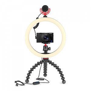 Гибкий штатив Joby GorillaPod 3K Kit в комплекте с кольцевой лампой и оригинальным микрофоном для смартфона