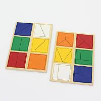 Навчальна гра Квадрати Нікітіна на розвиток логіки, 1 рівень 2+, фото 1