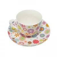 Чашка с блюдцем Blumen 100 мл Krauff 21-244-015
