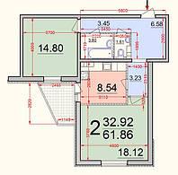 Двухкомнатные квартиры в Броварах по ул. Грушевского 21А Новострой