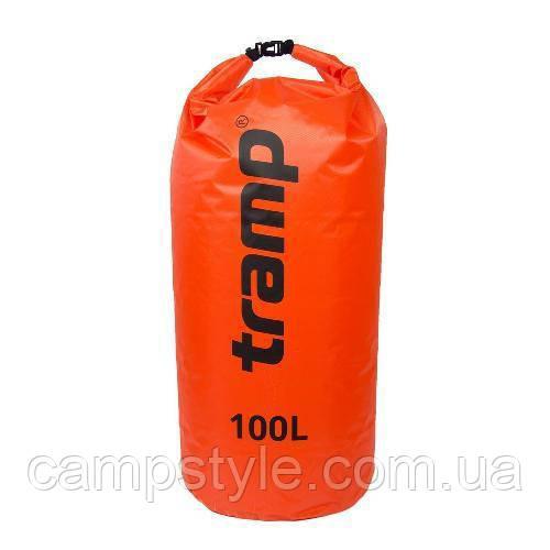Гермомешок PVC Diamond Rip-Stop 100л Tramp TRA-210-orange
