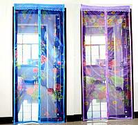 Москитная сетка-шторка на магнитах с рисунком 150*210 см