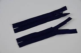 Блискавка змійка тракторна звичайна тип 8, 18 см, кишенькова, темно-синій, 50 шт/уп