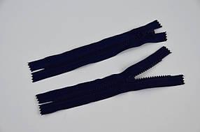 Блискавка змійка тракторна проста тип 5, 18 см, кишенькова, темно-синій, 100 шт/уп