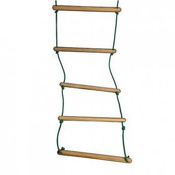 Детская верёвочная лестница L190 с деревянными ступенями