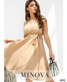 Бежеве привабливе легку сукню з віскози Розміри 42,44,46,48