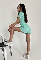 Жіночий костюм «Полосатик»,топ і шорти,Тканина - рубчик, посадка шорт - висока(42-46), фото 1