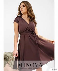 Сливове привабливе легку сукню з віскози Розміри 42,44,46,48