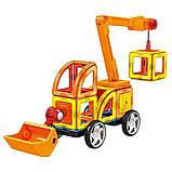 Магнитный развивающий конструктор для детей Play smart Цветные магниты Транспорт 45 деталей арт.2428, фото 2
