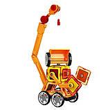 Магнитный развивающий конструктор для детей Play smart Цветные магниты Транспорт 45 деталей арт.2428, фото 4