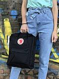 Жіночий рюкзак Kanken чорний, фото 7