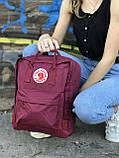Жіночий рюкзак Kanken бордовий, фото 2