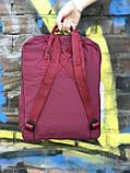 Жіночий рюкзак Kanken бордовий, фото 4