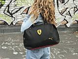 Жіноча сумка Puma Ferrari чорна, фото 3