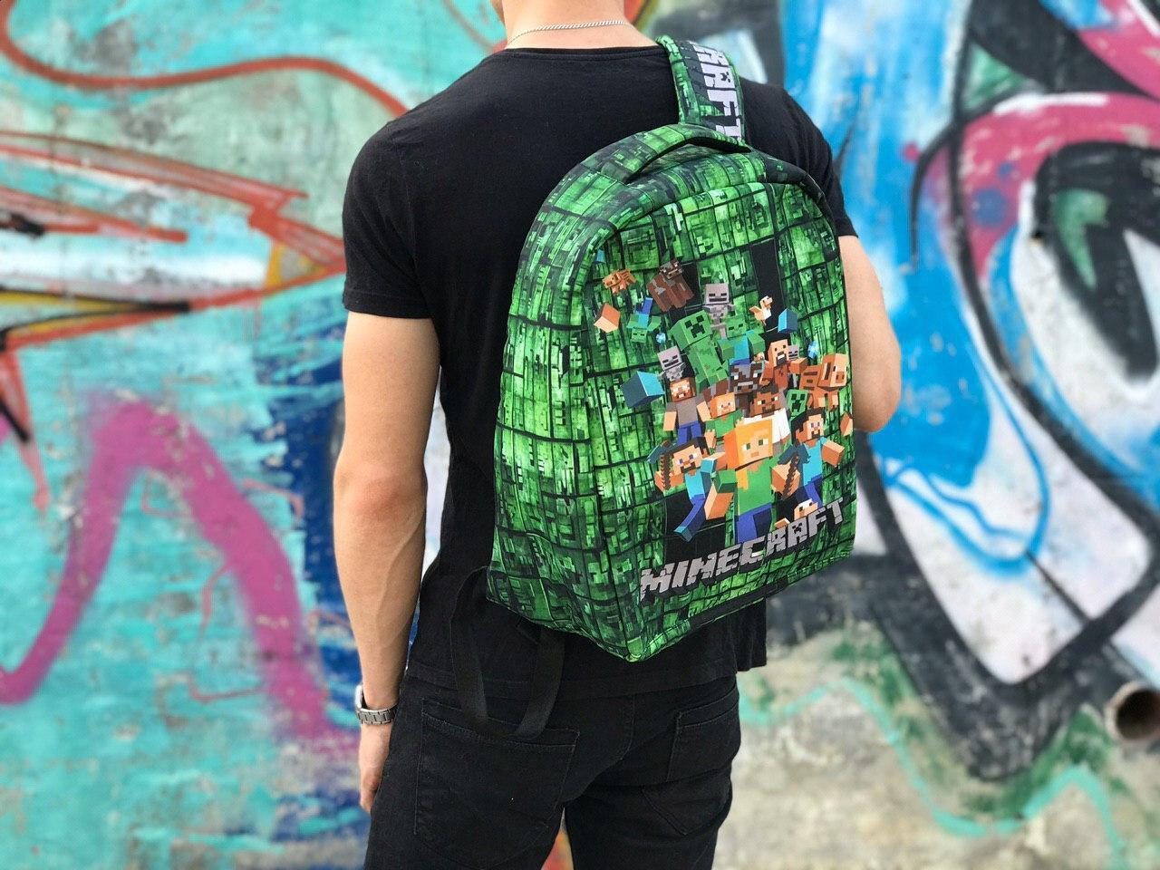 Школьный рюкзак Маинкрафт