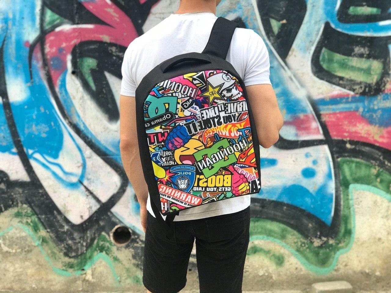 Школьный рюкзак Смайлик