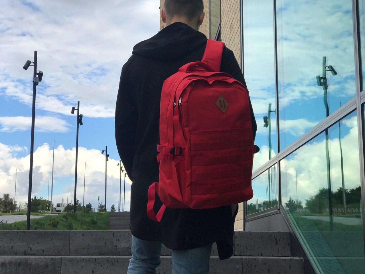 Чоловічий рюкзак червоний