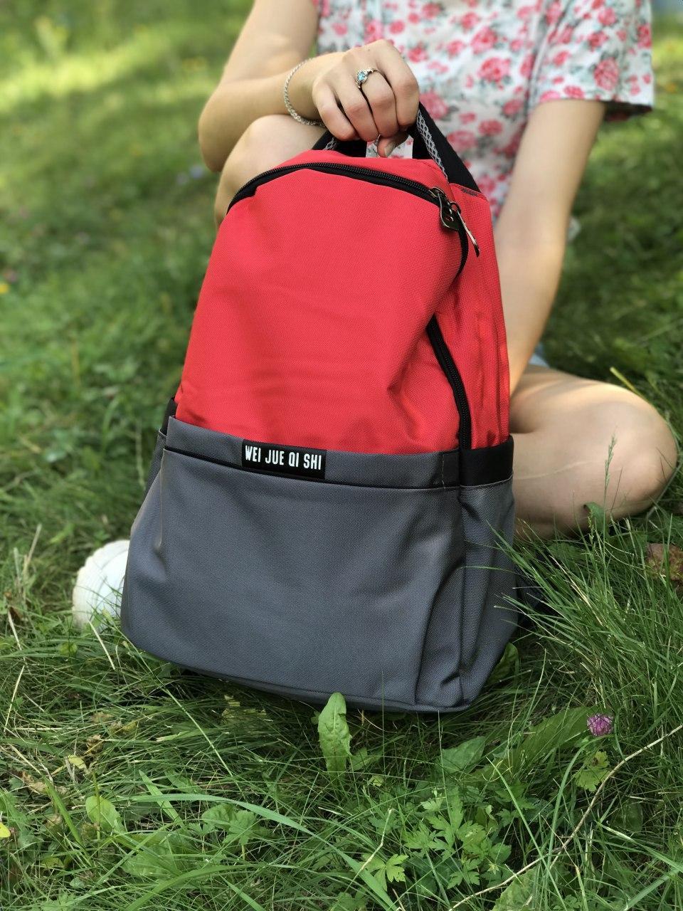 Жіночий рюкзак червоний