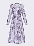 Расклешенное платье  длиной миди в мелкий цветочный принт, фото 5
