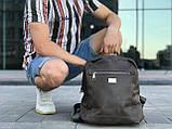 Шкіряний рюкзак David Jones сірий, фото 2