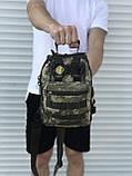 Тактическая сумка через плечо камуфляж, фото 3