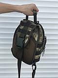 Тактическая сумка через плечо камуфляж, фото 4