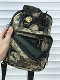 Тактическая сумка через плечо камуфляж, фото 5