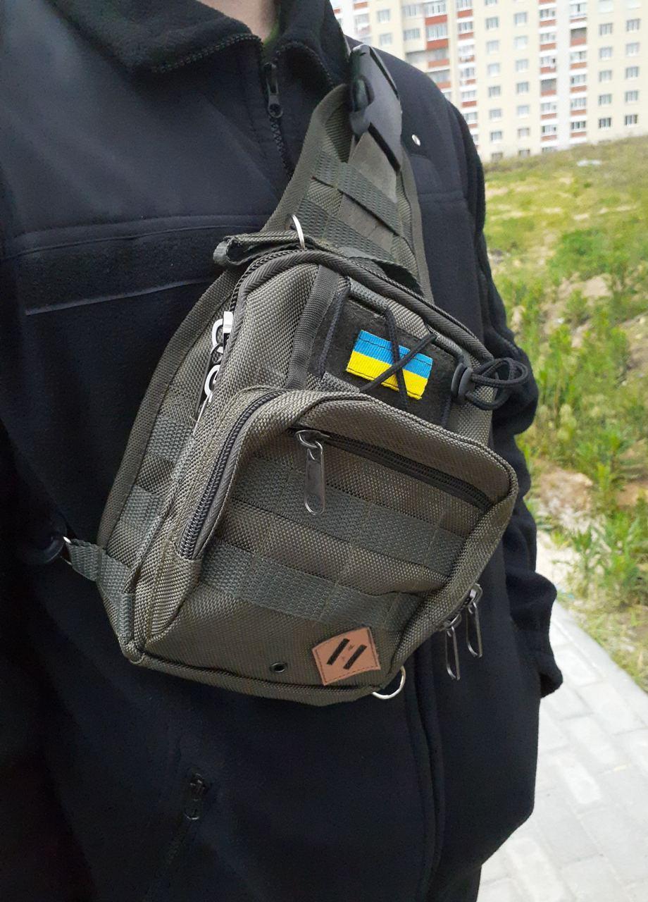 Тактична сумка через плече хакі
