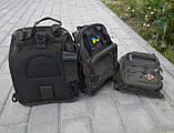 Тактическая сумка через плечо хаки, фото 2