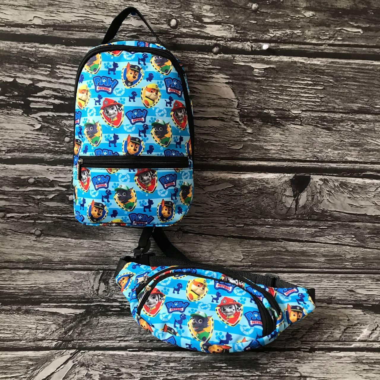Детский рюкзак + бананка Щенячий патруль