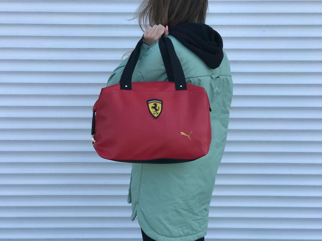 Женская сумка Puma Ferrari красная