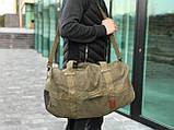 Брезентова дорожня сумка через плече, фото 3