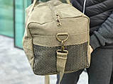 Брезентова дорожня сумка через плече, фото 4