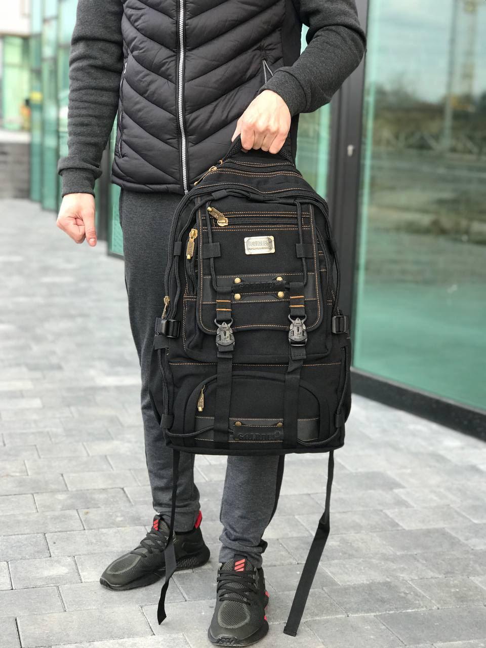 Брезентовый рюкзак Gold Be черный