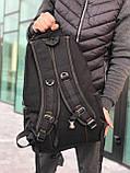Брезентовый рюкзак Gold Be черный, фото 4
