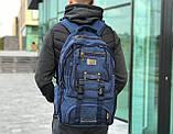 Брезентовый рюкзак Gold Be синий, фото 2