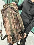 Дорожная сумка-рюкзак, камуфляжная (60 л.), фото 3
