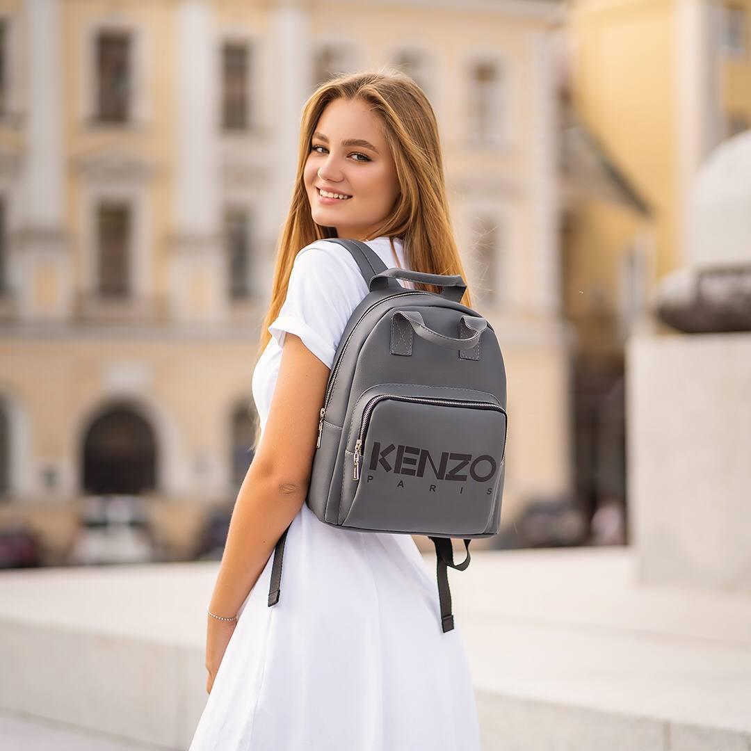 Сірий рюкзак Kenzo