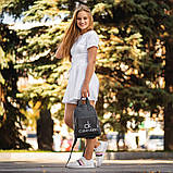 Чорний жіночий шкіряний рюкзак CK, фото 3
