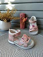 Босоножки с единорогом для девочки розовые