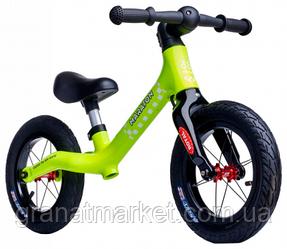 Беговел Maraton Royal Lime, колеса 12 дюймів, жовтий, для дітей