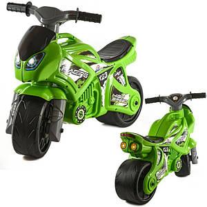 Мотоцикл салатовий, в пакеті, (Оригінал)