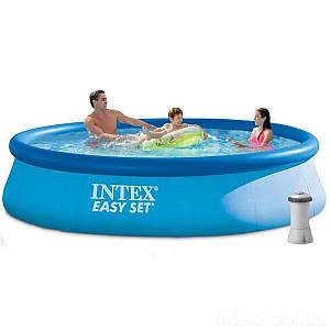 Надувной бассейн Intex 28142, 396 х 84 см (2 006 л/ч), (Оригинал)